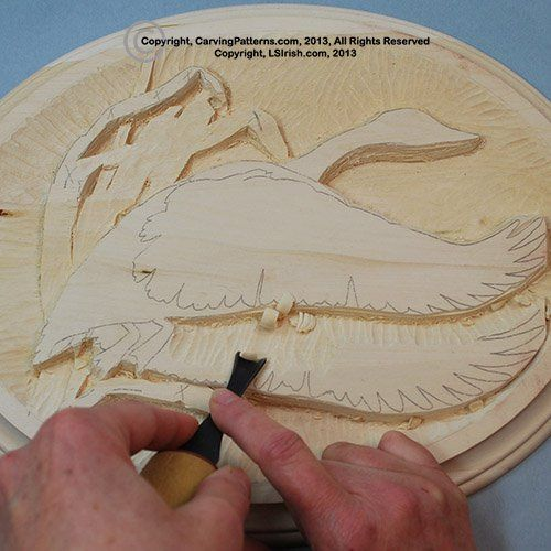 Step by photo instruction relief wood carving