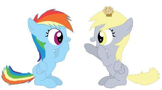 Rainbow Dash and Derpy Hooves BFFs! by *TomDanTheRock on deviantART