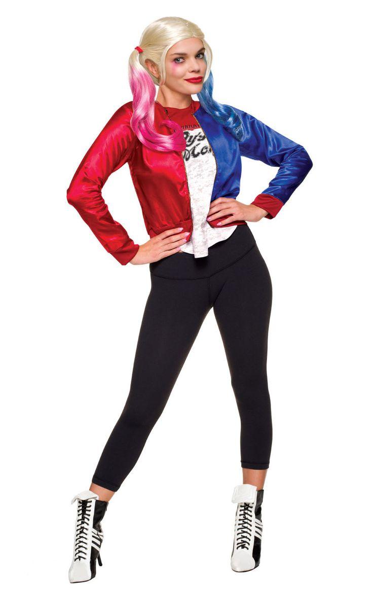 Harley Quinn -takki. Epäkohtelias ja väkivaltainen Harley Quinn ei ole ihan jokaisen tytön idoli, mutta kieltämättä hahmo on melkoisen mielenkiintoinen ja näyttävä sekä tietenkin äärimmäisen rakastunut Jokeriin. Naamiaisasu on lisensoitu Suicide Squad -tuote. Huomaathan oheistuotteista asusteet, joilla täydennät naamiaisasun tyylin.