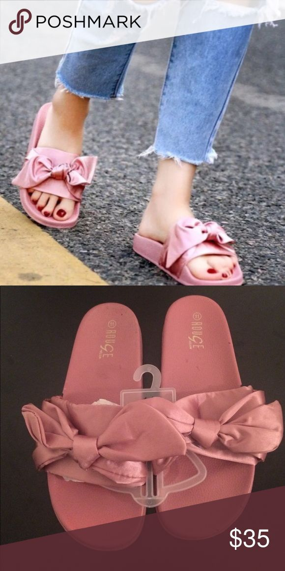 Bow Slides  BOW SLIDES FITS LIKE A 10 , PERFECT CHRISTMAS HOLIDAY GIFT  ! Shoes Sandals #slidesshoes