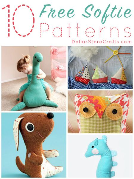 10 Free Softie Sewing Patterns Sewing Toys Pinterest