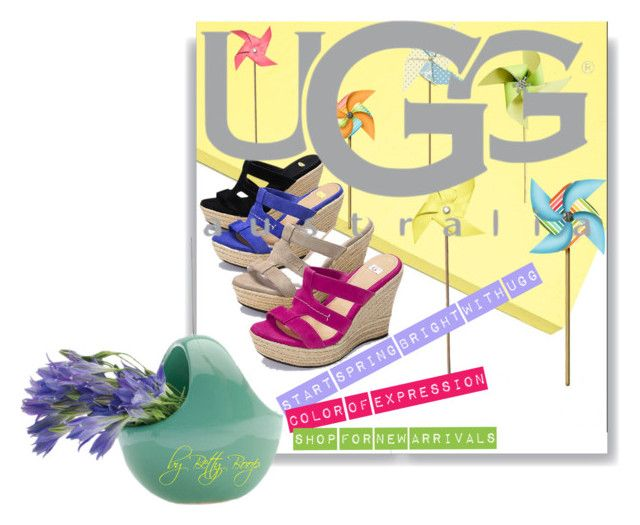 Start Spring Bright with UGG by betiboop8 on Polyvore featuring UGG Australia, Victoria's Secret and Dot & Bo