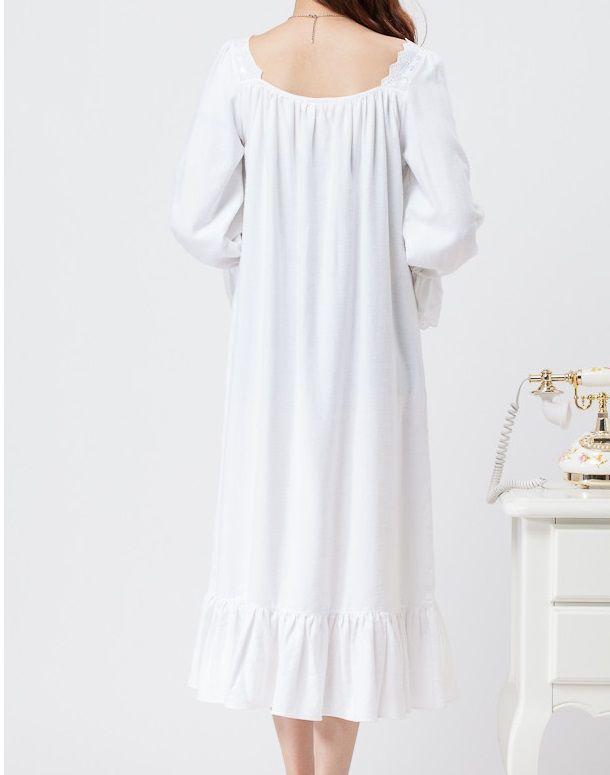 Goedkope Gratis verzending chiffon nachtjapon vrouwen lange pijamas twee kleur prinses nachtkleding roze en wit nachthemd lange gewaad, koop Kwaliteit nachthemden en sleepshirts rechtstreeks van Leveranciers van China: