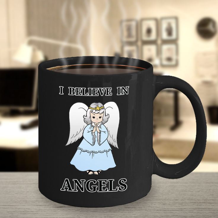 Exceptional I Believe In Angels Mug.