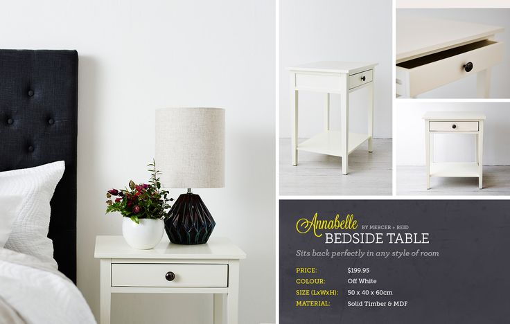 Annabelle bedside table - adairs