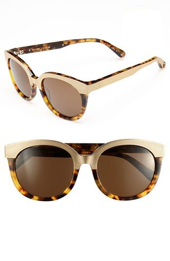 Metal + Tortoise shades...obsessed.  Rebecca Minkoff Baxter Sunglasses at Nordstrom