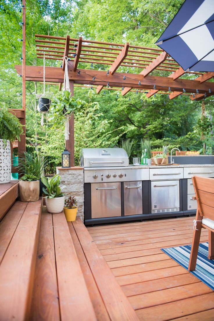 Your home improvements refference large outdoor dining tables - A Place Of My Taste Designed A Grill Prep And Serving Station That Works Seamlessly With The Larger Dining And Lounge Space Get The Scoop On This Patio