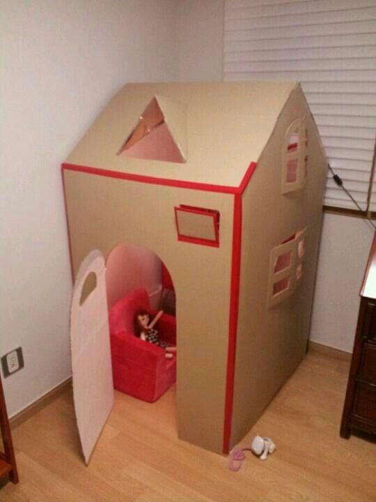 냉장고박스집 플레이하우스 지금껏 사줬던 텐트보다 가장 좋아했던것 같아요 ~~^^
