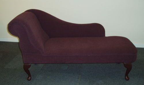 CHAISE LONGUE Plum fine ribbed fabric NEW   eBay