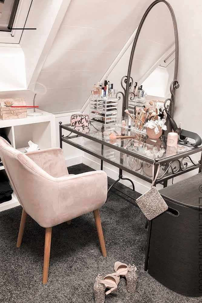 36 Mest Populara Makeup Vanity Table Designs 2019 Wilhelmina Espanpin Site Glas 36 Mest Popula In 2020 Glass Makeup Vanity Makeup Table Vanity Vanity Table