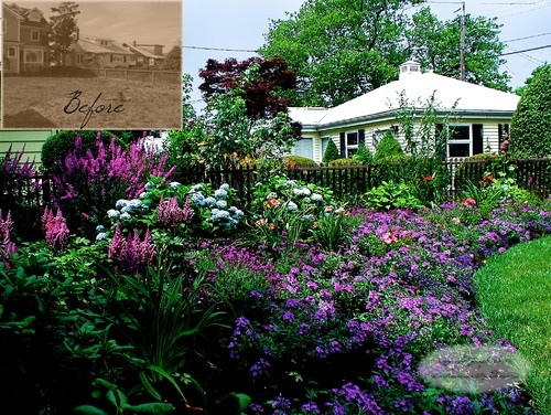 front yard lush varying colors and heights find this pin and more on cottage garden ideas