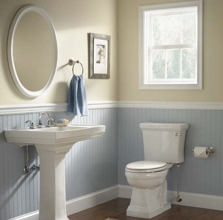 The Best Beadboard Bathroom Ideas    I like the color combo  but maybe413 best Bathrooms images on Pinterest   Bathroom faucets  Blue  . Wainscoting Small Bathroom. Home Design Ideas