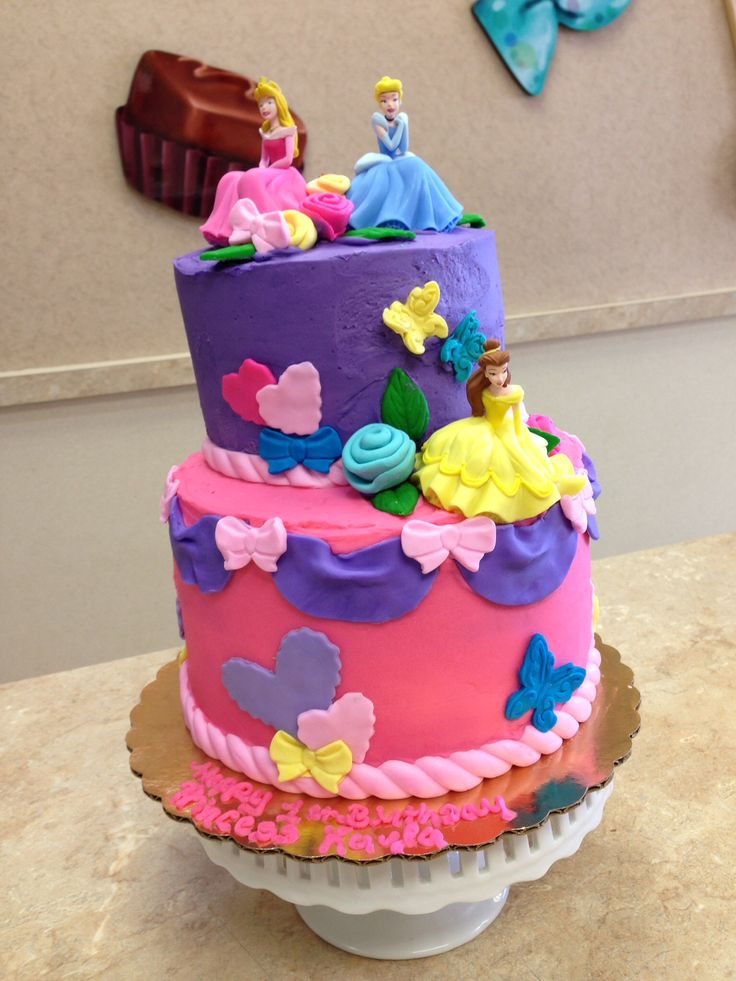 Disney Princess Cake Buttercream Icing Princesscakes