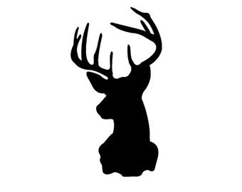 Deer Head Decal Silhouette Svg Dxf File Instant Download