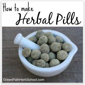 Making Herbal Pills
