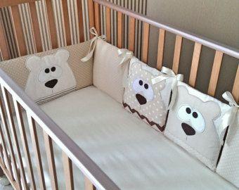Baby Boy Bedding set Clouds Baby Bedding by PocketsKidsKingdom