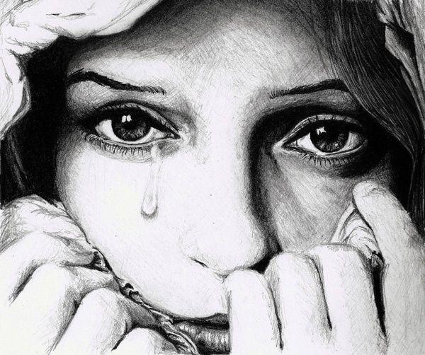 Drawing of a sad girl - good | Art | Pinterest | Emotional ...