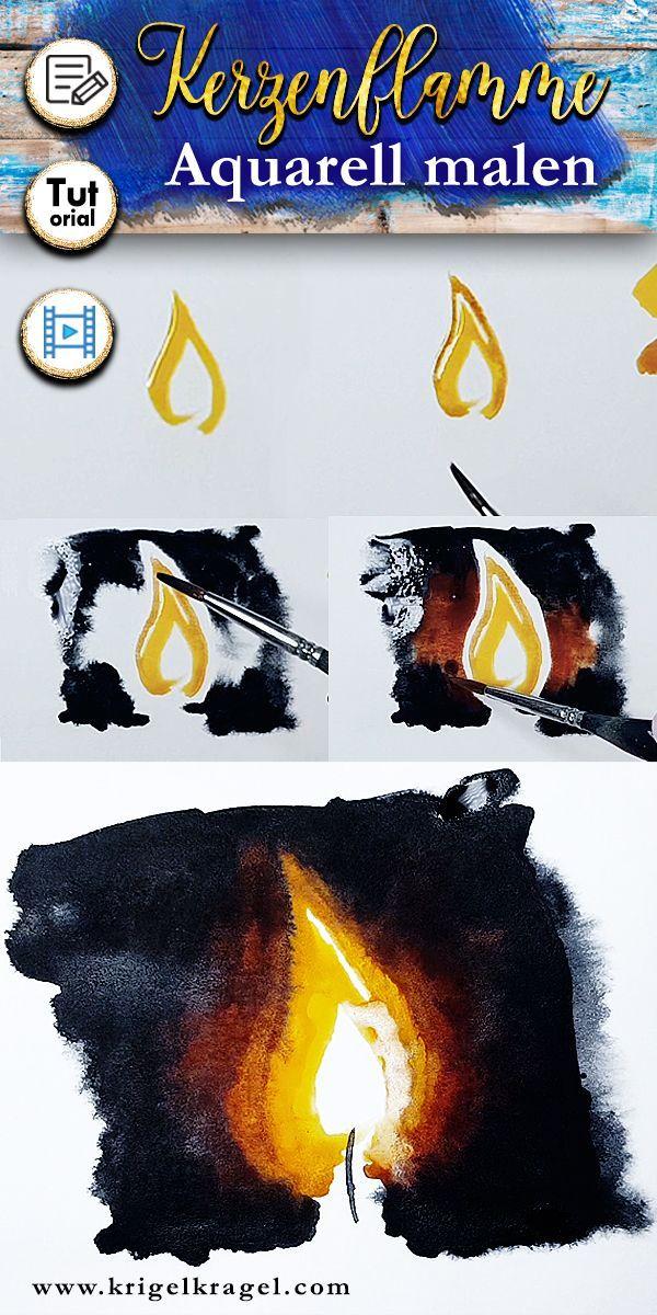 Hier Lernst Du Wie Du Eine Kerze Mit Flamme Malen Kannst In Der
