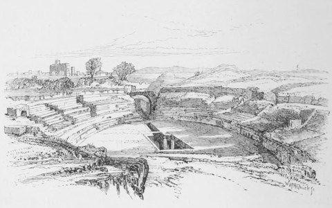 Augustus Hare. Roman Amphitheatre, Syracuse.