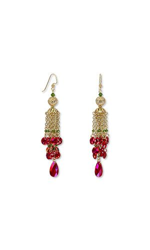 d904e47e4792 Jewelry Design - Earrings with Swarovski® Crystals and Gold-Plated Brass  Beads - Fire Mountain Gems and Beads