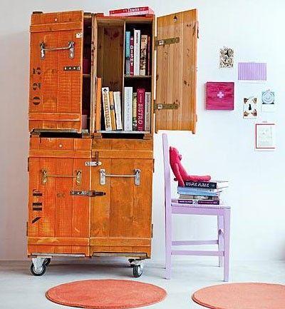 muebles con material reciclado sillas y mesas