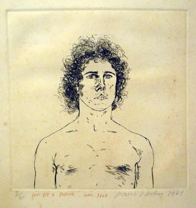 Portraits by David Hockney   David Hockney (b. 1937) - Portrait of Wayne Sleep - Fine Art - Auction ...