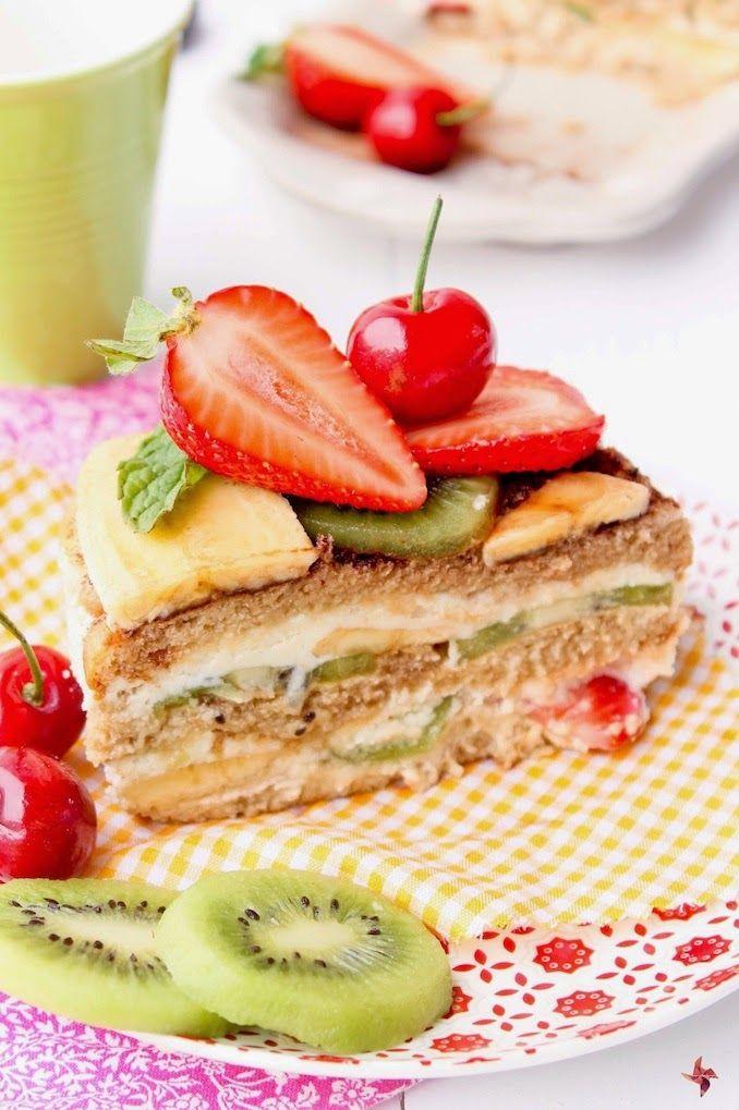 Tiramisu de frutas sin horno