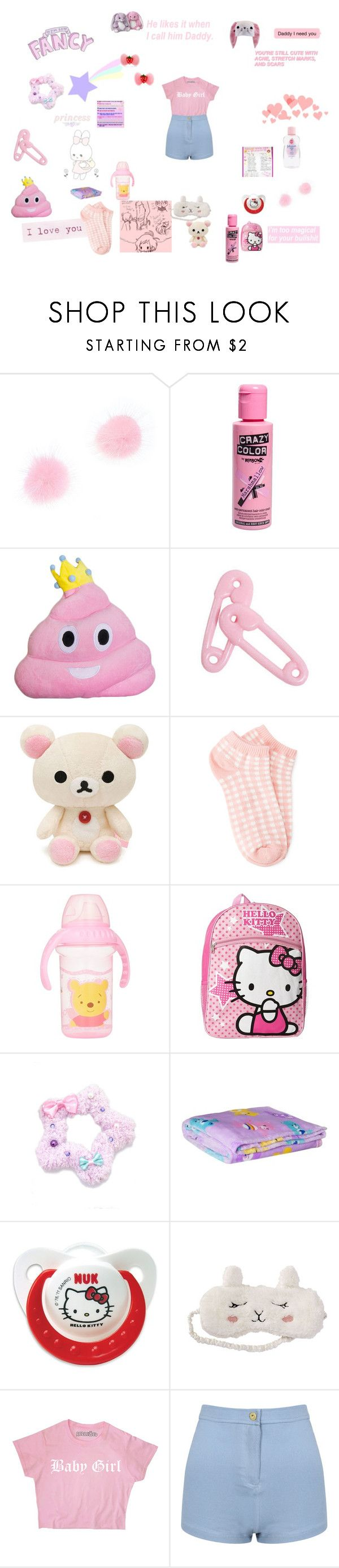 """""""fancy baby"""" by unicorn-923 ❤ liked on Polyvore featuring Forever 21, Disney, Hello Kitty and P.J. Salvage"""