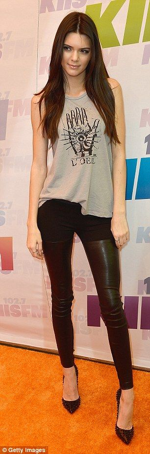 Kendall Jenner Ready to rock: The 17-year-old sported a punk themed outfit as she attended with her younger sister Kylie Jenner   Read more: http://www.dailymail.co.uk/tvshowbiz/article-2323236/Wango-Tango-2013-Britney-Spears-shows-curves-peekaboo-LBD-joins-Kendall-Kylie-Jenner-festival.html#ixzz2TByjpMIA  Follow us: @MailOnline on Twitter | DailyMail on Facebook