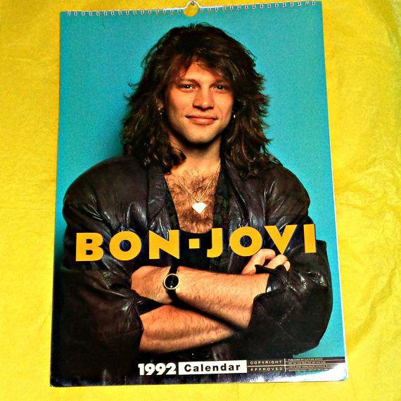 Rare Bon Jovi 1992 Calendar Music Memorabilia Collectable Bon