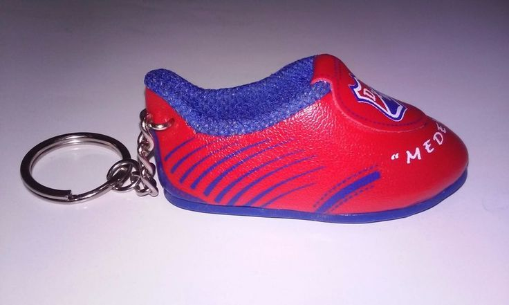 Soccer Cleats Shoe Keychain with Key Ring Medellin Futbol Football Red & Blue