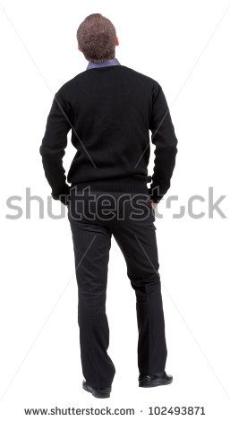 Back View Of Man In Sweater Isolated Stock Photos, Images, & Pictures | Shutterstock