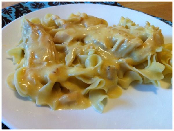 Easy Chicken Egg Noodle Crockpot Recipe...   - 1lb skinless boneless chicken breast (about 4 breasts) - 2 cans of cream of chicken - 1/2 cup of butter - 42oz of chicken broth  Place all ingredients in crockpot, cook & cover on low for 8hrs or high for 4hrs. Shred chicken with a fork & then add one bag of egg noodles. Continue to cook on low for 1hr or high for 30mins.