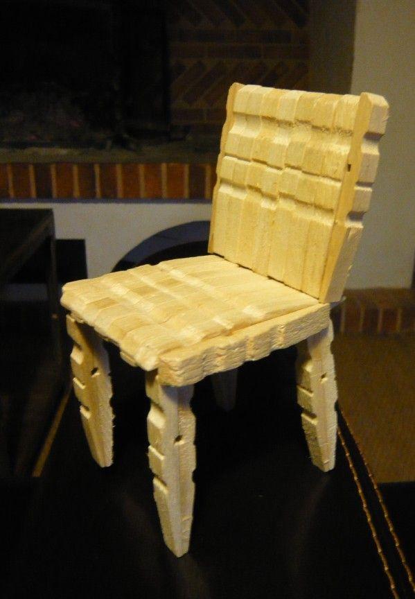 chaise pinces à linge (tuto gratuit DIY) | Meubles barbie ...