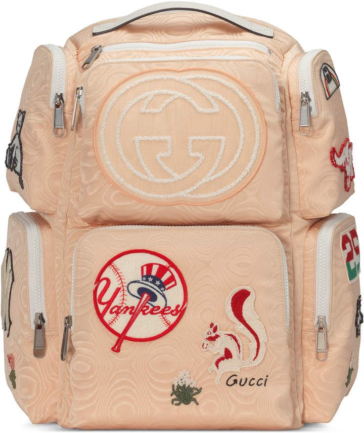 674dbf675a14 Large backpack with NY Yankees™ patches   Bag Addiction   Designer ...
