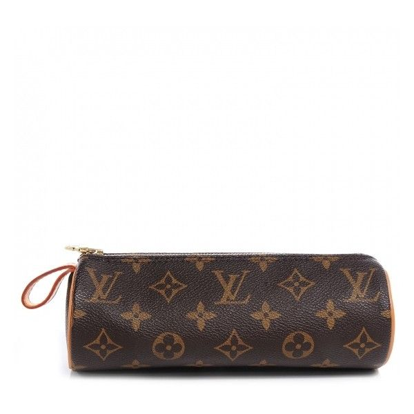 LOUIS VUITTON Monogram Trousse Ronde 20 Makeup Case ❤ liked on Polyvore featuring beauty products, beauty accessories, bags & cases, makeup bag case, wash bag, toiletry kits, travel toiletry case and makeup purse
