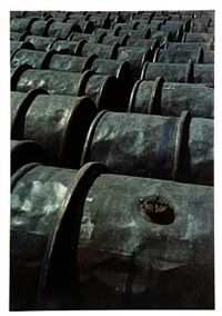Iron barrels, pl. 63 from 122 Colour Photographs by Keld Helmer-Petersen