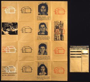 Eugenio Dittborn Sin rastros (Pintura aeropostale num.13) (No Tracks [Airmail Painting No.13]), 1983