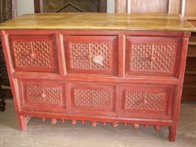 Rustic Wood Kitchen Buffet