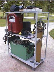 portable welder rack
