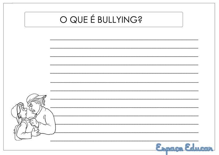 Atividade: Cartilha contra o Bullying para montar com a turma! - ESPAÇO EDUCAR