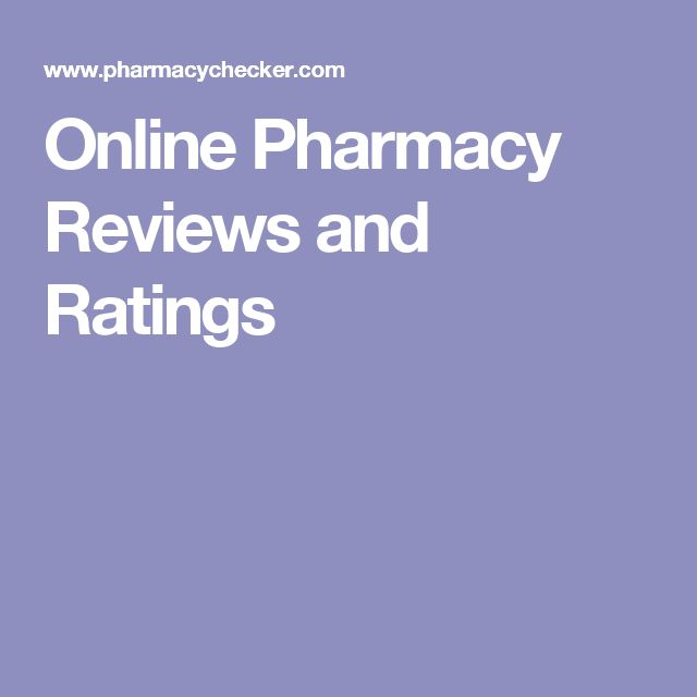 Online Pharmacy Reviews and Ratings