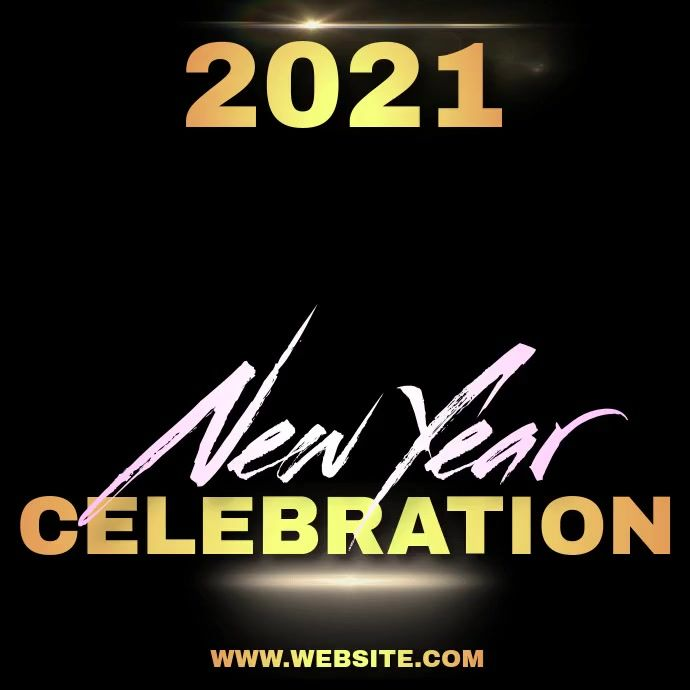 New Years Video Template Social Media Template Flyer New Year Gif