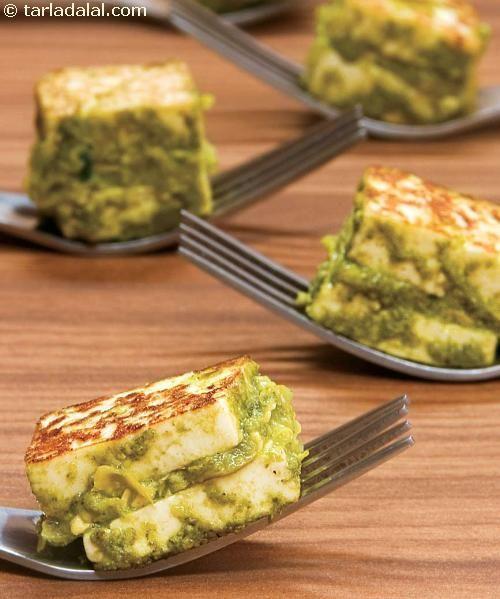 Hara Tava Paneer ( Healthy Starter Recipe ) recipe | by Tarla Dalal | Tarladalal.com | #34726