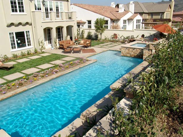 Check out the large concrete steps along the pool...would be nice to have the same colored concrete with some brown aggregate intermixed in each step..