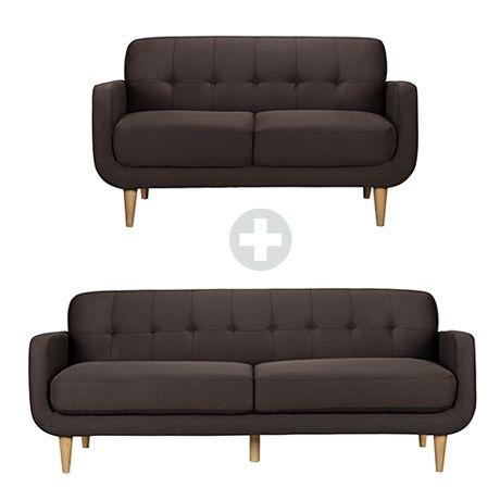 Klein 2 & 3 Seat Sofa | Freedom Furniture and Homewares