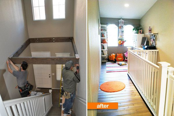 Turn Dead Space Above A Staircase Into a Playroom. ** great idea.