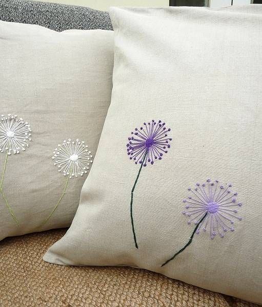 vintage linen cushion dandelion by polkadots & blooms | notonthehighstreet.com