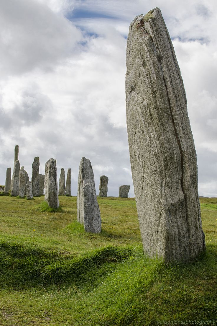 Calanais standing stones. Lewis Outer Hebrides, Scotland.