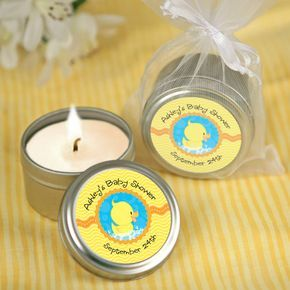 Ducky Duck - Candle Tin Personalized Baby Shower Favors $1.99